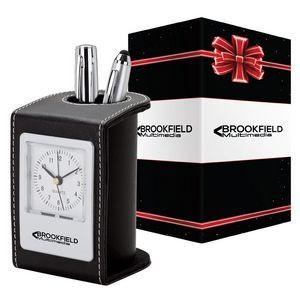 Alba Desk Clock & Pen Cup & Packaging
