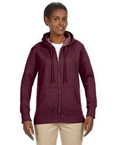 Econscious - Big Accessories Ladies' Organic/Recycled Heathered Fleece Full-Zip Hooded Sweatshirt