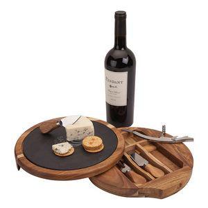 Normandy Swivel Base Cheese/Wine Set