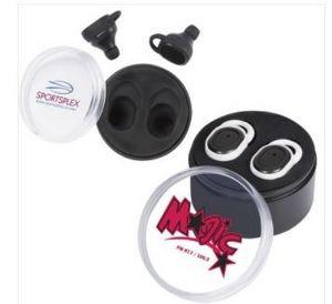 Wireless In-Ear Buds in Round Case