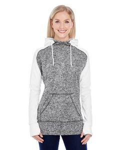 J AMERICA Ladies' Colorblock Cosmic Hooded Sweatshirt