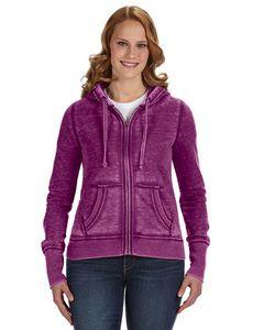 J AMERICA Ladies' Zen Full-Zip Fleece Hooded Sweatshirt