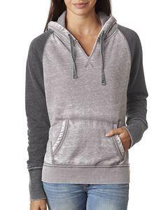 J AMERICA Ladies' Zen Contrast Pullover Hooded Sweatshirt