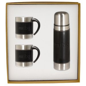 Empire™ Thermal Bottle & Coffee Cups Gift Set