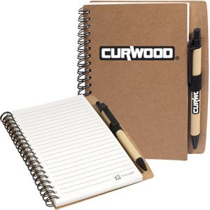 Stone Paper Spiral Notebook w/Pen Combo