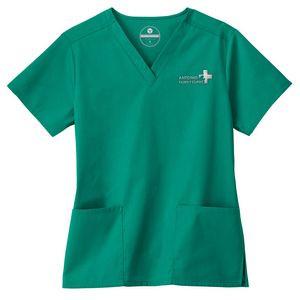 Fundamentals® Ladies Two Pocket V-Neck Top